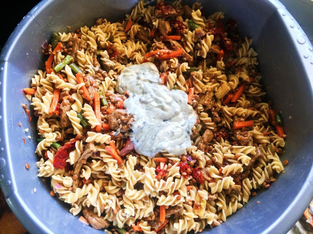 Sundried tomato pastasalad