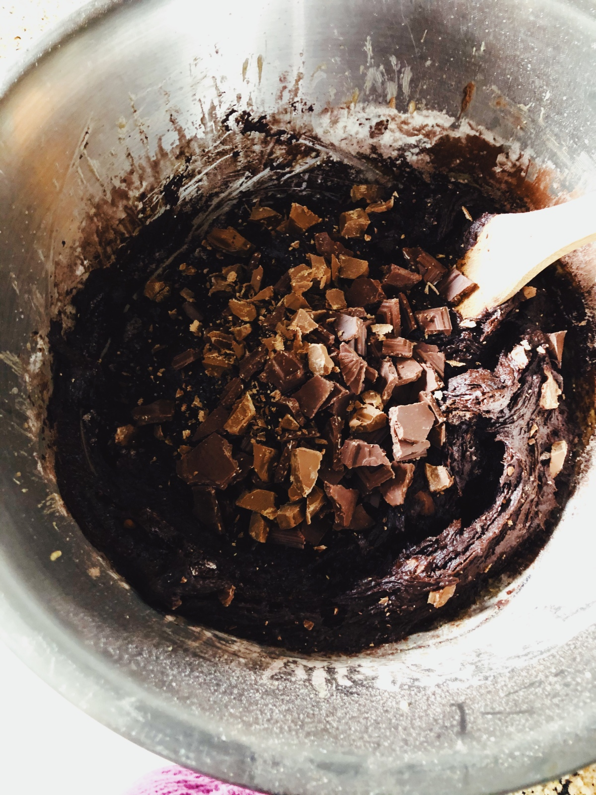 One bowl triple-chocolate brownie recipe